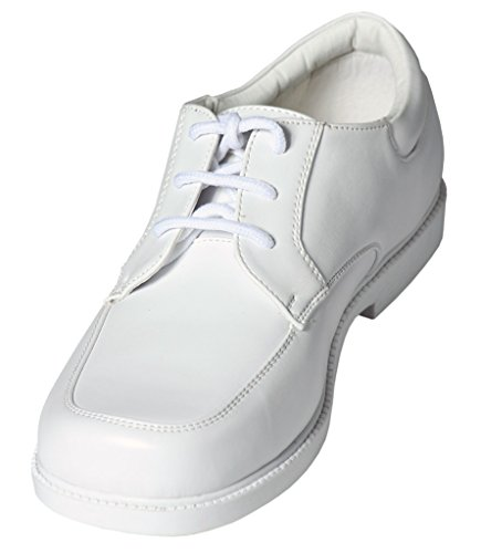 Boys White Lace Up Square Toe Dress Shoes - Wedding - First Communion -