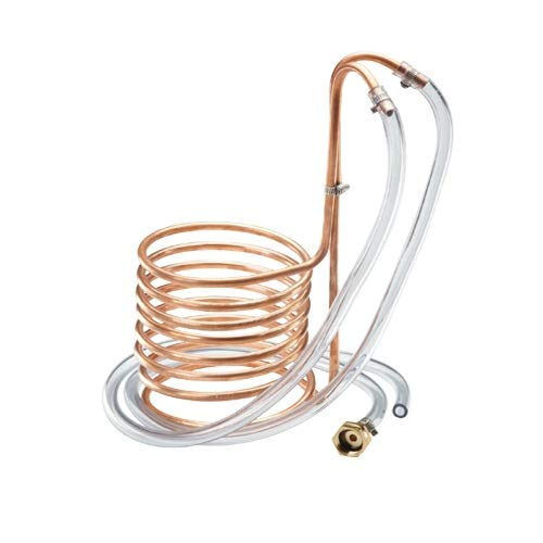 Krome Standard Wort Chiller With Garden Hose Fittings (Copper)-C219