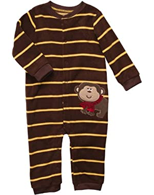 Carter's Baby Boys' Infant Long Sleeve One Piece Snap Fleece Coverall