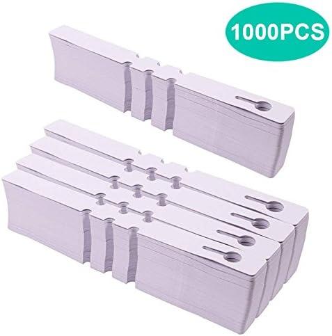 KINGLAKE Etiquetas plásticas del árbol de la Planta de 1000 PC Etiquetas Blancas del jardín Etiquetas Colgantes de la Planta de 2 x 20 cm: Amazon.es: Jardín