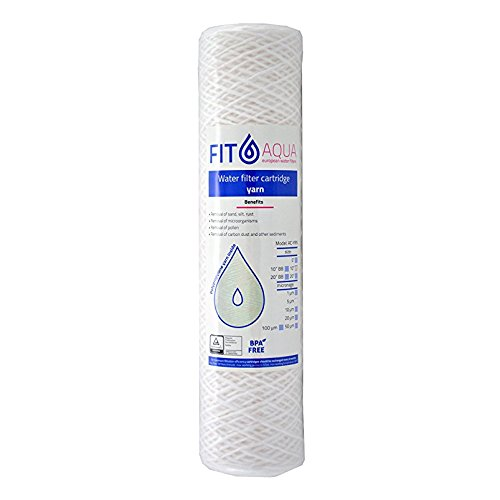 FIT Aqua AC YRN 10-10 Yarn Sediment Water Filter Cartridge –  10 Micron FitAqua AC-YRN-10-10