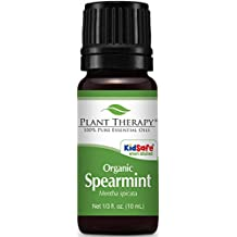 Plant Therapy USDA Certified Organic Spearmint Essential Oil. 100% Pure, Undiluted, Therapeutic Grade. 10 ml (1/3 oz).