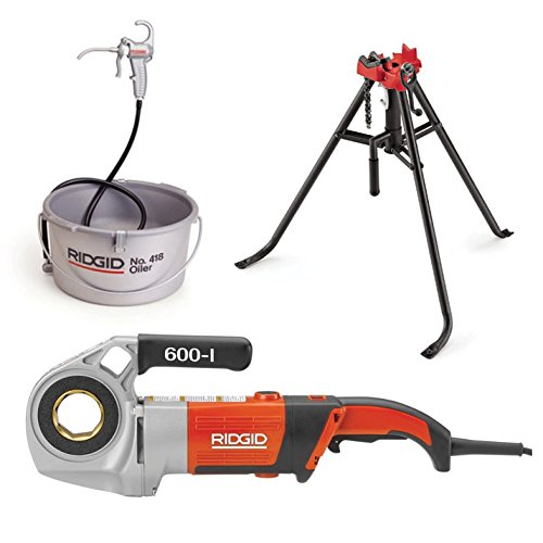 Ridgid 44918 600-I Power Drive, Die Heads, Case, and Support