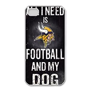 iphone4 4s Phone Case White Minnesota Vikings JGL603901