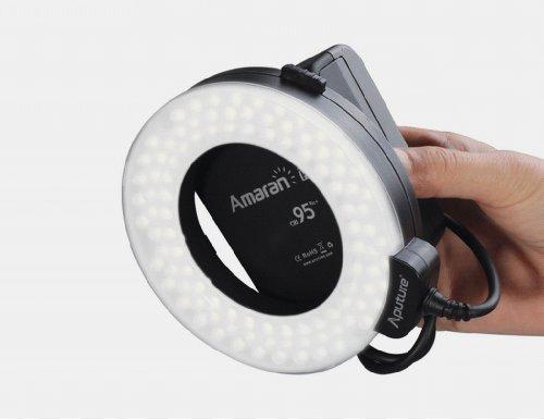 Aputure Amaran Halo AL-H100 LED Macro Ring Flash Light Speedlite for Nikon Cameras (8 Lens Adapter Rings: 49mm/52mm/55mm/58mm/62mm/67mm/72mm/77mm)