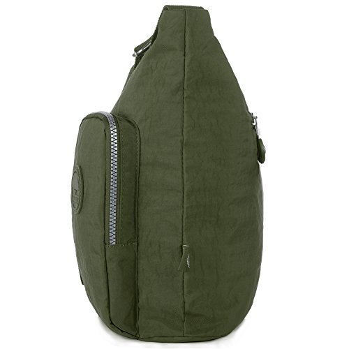 Army Multi Large Crossbody 1204 Nylon Shoulder Pocket Bag Army Green Bag green 1204 qUx1gv