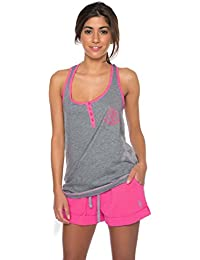 Womens 2 Piece Tank Top & Pajama Shorts Sleepwear Set