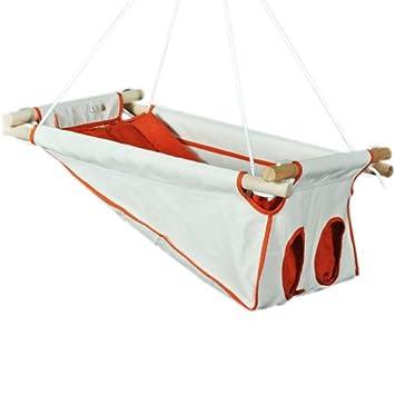 Beto Baby Swing Hammock Cradle With Spring And Spreader Bar Orange