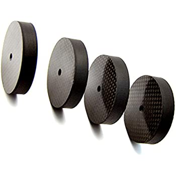 Amazon Com Carbon Fiber Speaker Spikes Floor Protectors