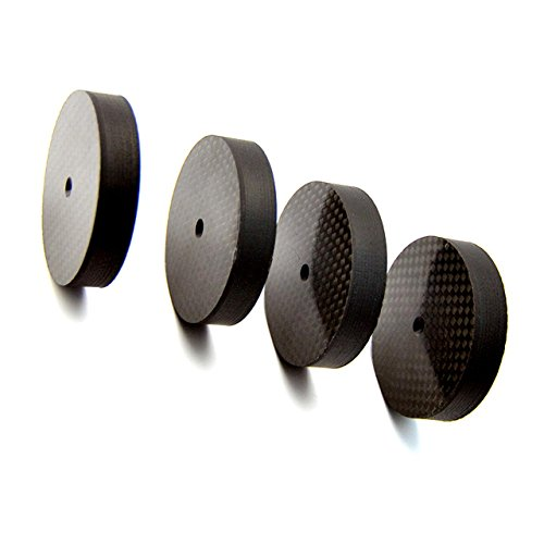 Viborg Audio 4x 40x10mm Carbon Fiber Speaker Spike Cone Pad Isolation Base Feet HiFi