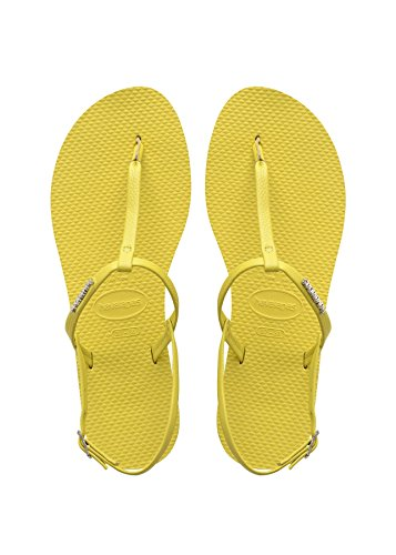 Havaianas , Sandales pour femme jaune jaune