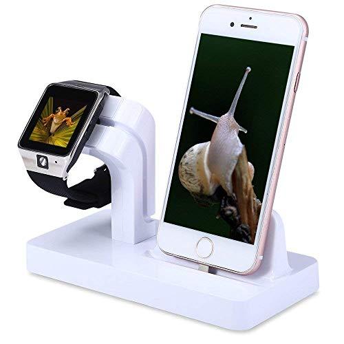 TFHEEY 2 en 1 Estación de Carga para iPhone/Apple Watch Serie 1&2&3/iPad Mini Dock iPhone5/5s/6/6S/6plus/7/7plus/8/8plus/X...