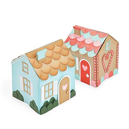 Sizzix 663157 Thinlits Die Set Mini Pop-Up House by Katelyn Lizardi (17-Pack), Multicolor