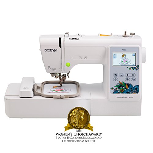 Brother Embroidery Machine, PE535, 80 Built-In Designs, Large LCD Color Touchscreen Display, 25-Year Limited Warranty - Hat Machine Embroidery