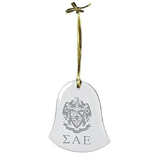 Express Design Group Greekgear Sigma Alpha Epsilon SAE Glass Bell Ornaments ()