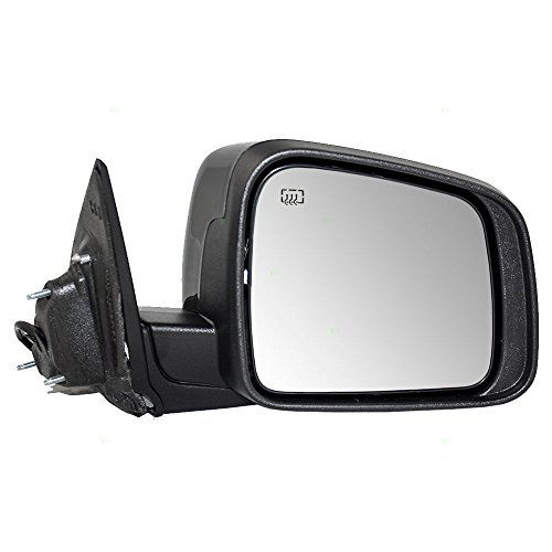 Passengers Power Side View Mirror Heated Manual Folding Replacement for 11-18 Dodge Durango 5SH42AXRAD AutoAndArt