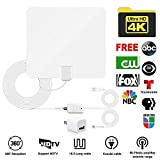 Sumee TV Antenna, Indoor Digital Amplified HDTV Antennas 50-80 Miles Range with Detachable Signal Amplifier, UL Adapter and 16.5FT Longer Coax Cable - Support 4K 1080p