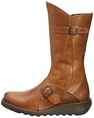 2 Womens Mid Leather Calf Fly london Camel Boots Mes AZA6zS