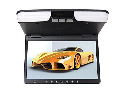 iVecle TU-156 Super Slim Roof Monitor with Built-in DVD Player, 15.6-Inch TFT-LCD High Resolution / LED / HD Display Screen, Built-in IR & FM Transmitter / Loudspeakers (Beign)
