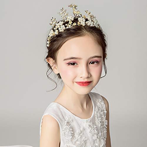 Women Bridal Wedding Headwear Crystal Pearl Hair Band Fashion Jewelry Decor Gift