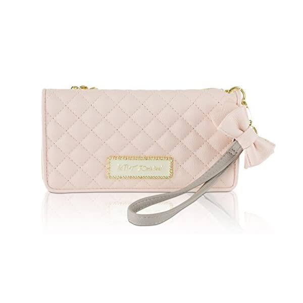 Betsey Johnson Womens Double Entry Wristlet Wallet