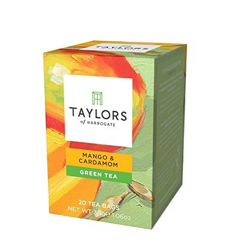 Taylors of Harrogate Mango & Cardamom Green Tea, 20 Count (Pack of 1) (Best Green Tea Brand Uk)