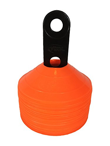 World Sport 50 Orange Disc Cone Set with ()