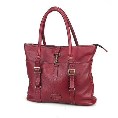 (Claire Chase Ladies Computer Tote Bag Color: Red )