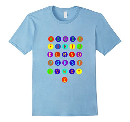 Mens ABC Colorful Alphabet T-shirt Help  Children Learning Colors 2XL Baby (Alphabet Tee)