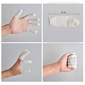 G2PLUS Disposable Latex Finger Cots Rubber Fingertips Protective Finger Gloves Art Latex Tissue Finger Cot (200 PCS)