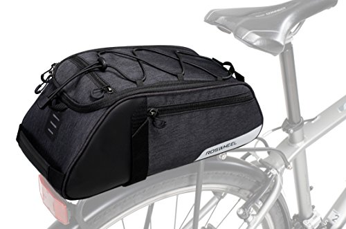 Roswheel Essentials Series 141466 Bike Trunk Bag Bicycle Rear Rack Pack Cycling Accessories Pannier, 8L Capacity