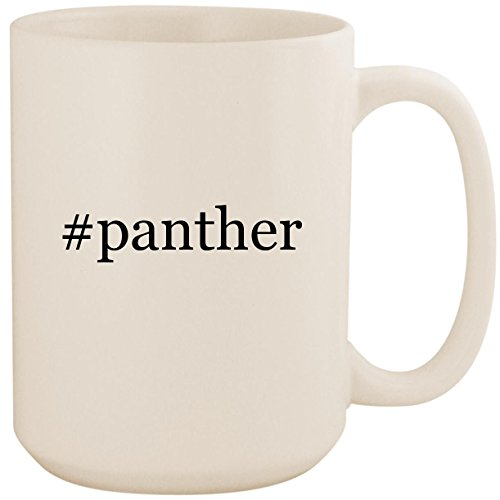 #panther - White Hashtag 15oz Ceramic Coffee Mug Cup ()
