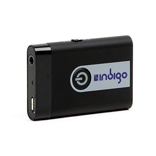 Indigo BTR9 Wireless Bluetooth Stereo Transmitter and Receiver 2-in-1 Switchable Adapter for TVs, Computers, MP3 Players, iPods, Headphones