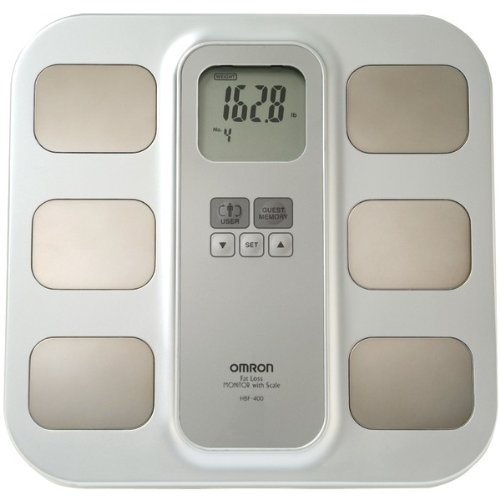 Omron HBF-400 Full-Body Sensor Body Composition Monitor with Scale by Omron
