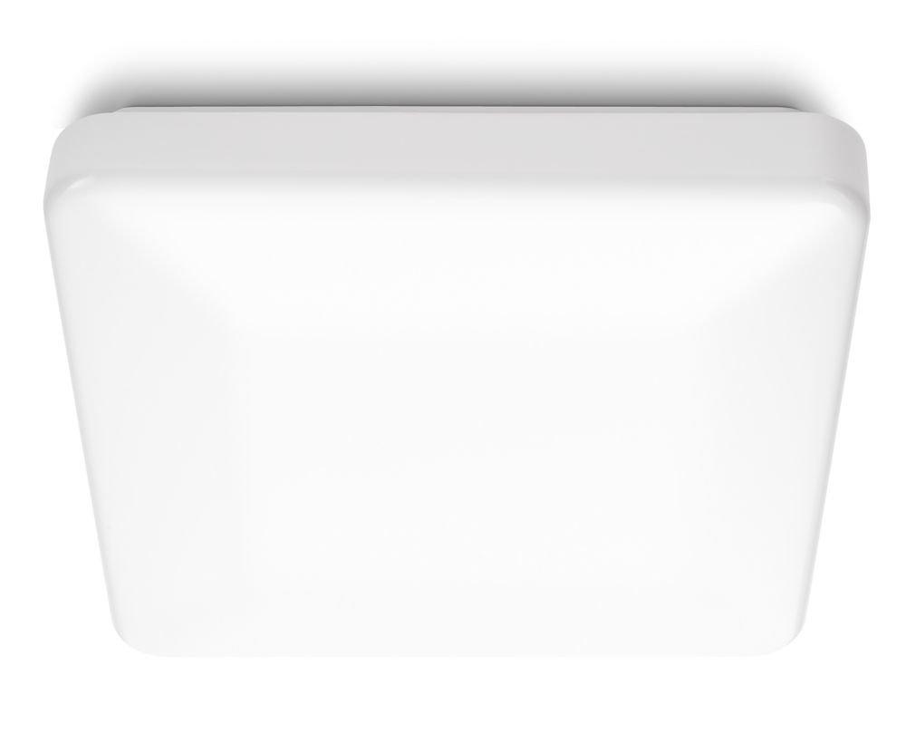 philips 318043116 linen lampada da soffitto a led quadrata 28 w bianco