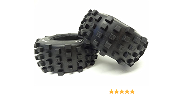 Amazon Com 1 5 Rovan Rear Truck Knobby Tires 2 195x80 Fits Hpi Baja 5t 5sc King Motor Toys Games