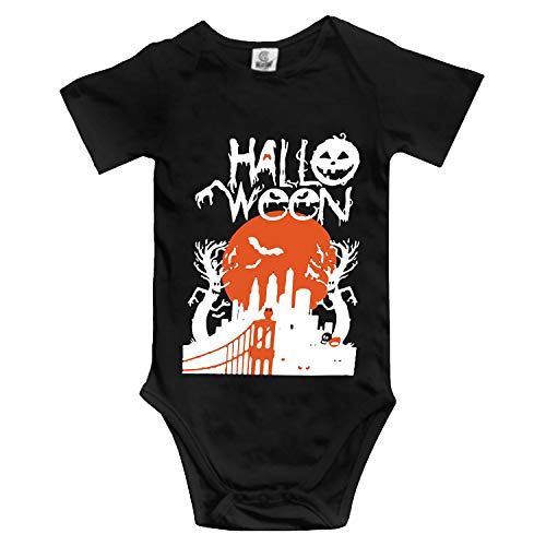 XIAOTT Halloween Cartoon for Invitations Baby Infant Boys Girls Fun Print Bodysuit for $<!--$11.90-->