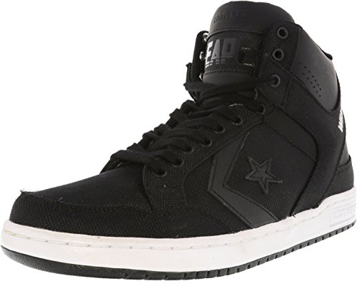 Converseer Wapen Midden High-top Fashion Sneaker Zwart / Zwart