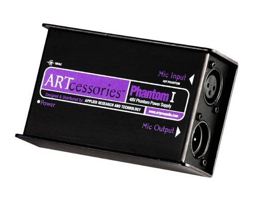 ART Phantom I 48V Phantom Power Supply for Condenser Microphones by ART