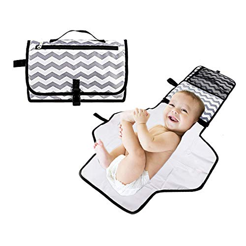 Yillsen Portable Waterproof Baby Diaper Changing Pad Kit,Diaper Clutch,Baby Diaper Change Mat for Travel and Home,Travel Home Baby Changing Mat for Toddlers Infants and Newborns