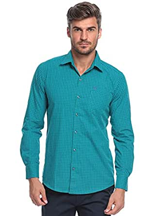 99 Green, Blue Cotton Shirt Neck Shirts For Men