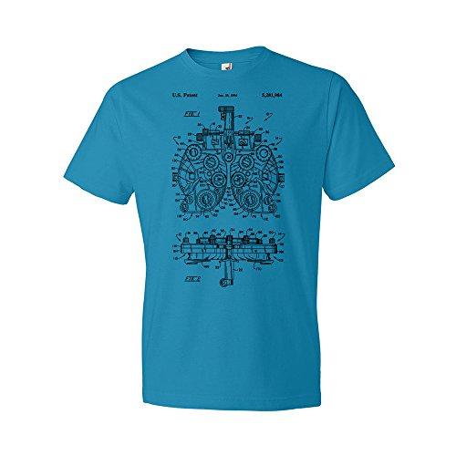 Optometry Phoropter T-Shirt, Optometry Gift, Optometry T-Shirt, Optometrist Gift, Ophthalmology, Ophthalmologist, Patent Caribbean Blue (Medium)