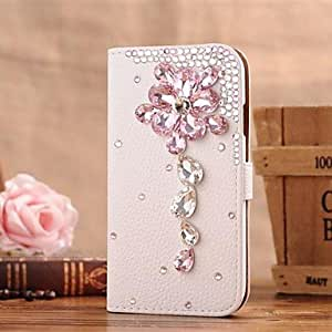 TOPMM Diamond Gem Petal PU Leather Full Body Case with Stand and Card Slot for SAMSUNG GALAXY S4 I9500