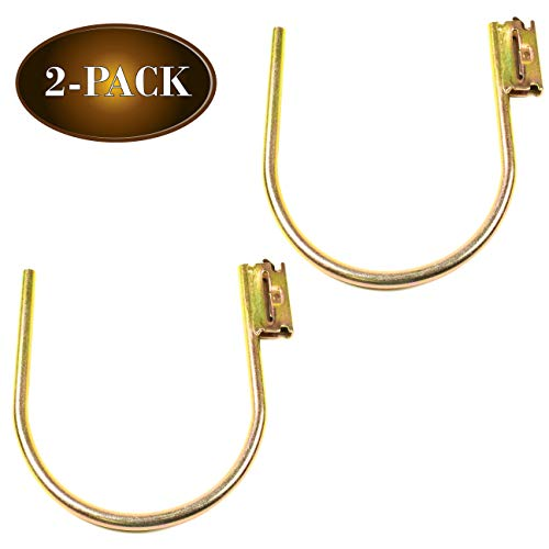 DC Cargo Mall E-Track Large 7 J Hook Tie Down Accessory (2 Pack) for Enclosed Trailer/RV for Helmets, Ropes, Motorcycle Jackets, Pipes, Hoses and Cables