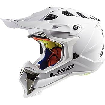 LS2 Helmets Unisex-Adult Off-Road-Helmet-Style MX (White, XX-Large)
