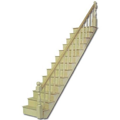 Dollhouse Miniature 1/24 Scale Staircase Kit by Houseworks Kit 1/2 Scale