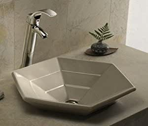 hexagon bathroom sink kohler vessels hex strata bath sinks above counter 13110