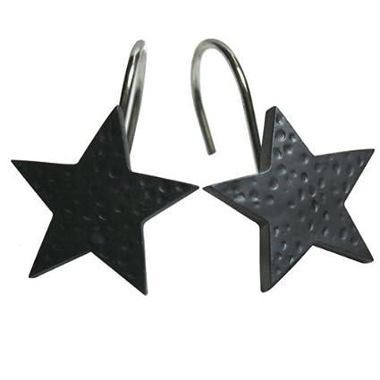 Black Star Shower Curtain Hooks By Park Designs