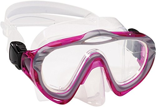 Junior Mask (Speedo Junior Hyperdeep Mask, Trans Fuchsia, One Size)