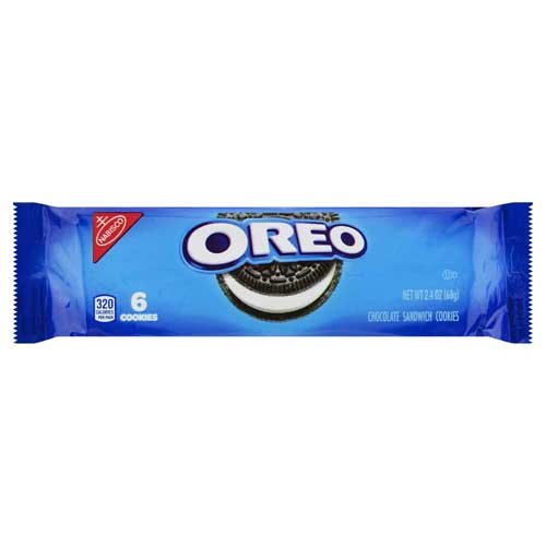 Oreo Chocolate Single Serve Sandwich Cookies, 2.4 Ounce - 48 per case.